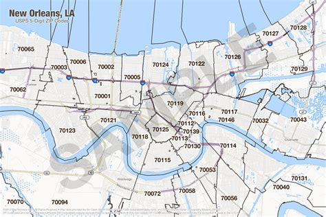 zip code map new orleans search the maptechnica printable map catalog maptechnica