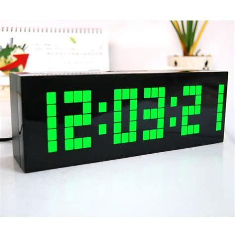 Led Digital Clock multi function large big led digital alarm table wall clock countdown weather date temperature