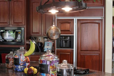 kitchen pot lights rustic pot rack with lights cosmecol