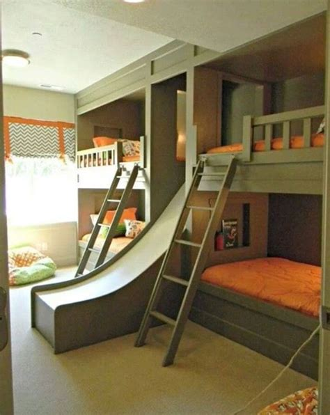 information at internet beautiful bedroom design for kids green and orange bunk bedroom with awesome slide good
