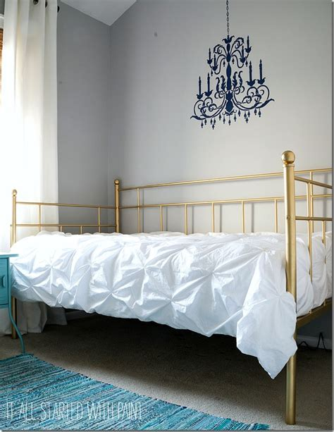 How To Paint A Bed by Gold Bed Frame Created With Spray Paint