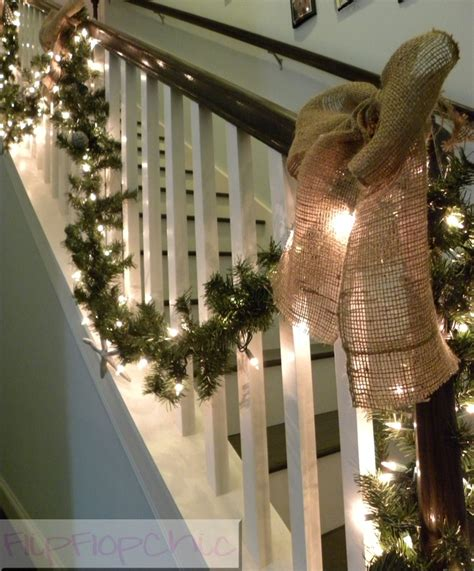 banister decor best 25 banister christmas decorations ideas on pinterest