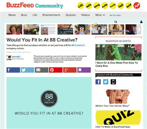 buzzfeed quiz buzzfeed quizzes career 408inc booking