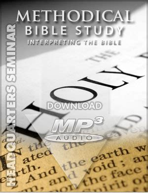 Methodical Bible Study topical studies