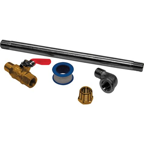 shop cbell hausfeld air compressor drain extension kit at lowes