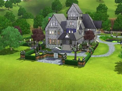 sims  building challenge goths manor sims