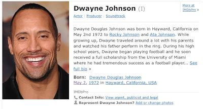 did the rock dwayne johnson died the sync whole starg8or with the one eye i
