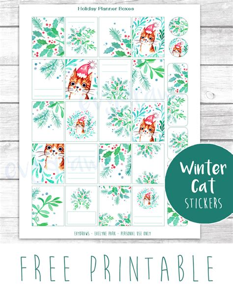 free printable christmas cat gift tags last minute diy free printable gift tags stickers