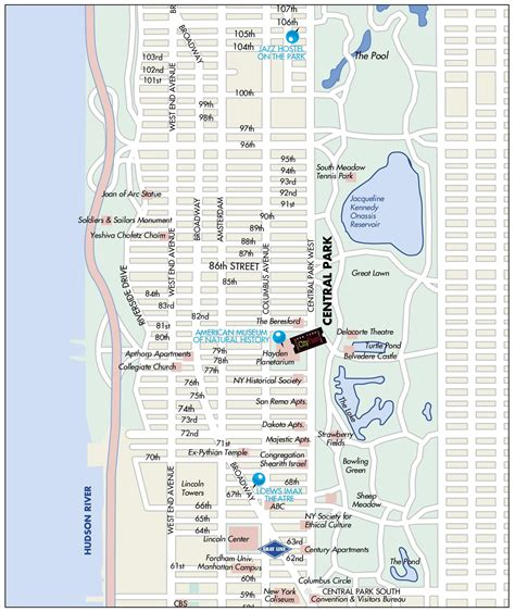 west side usa map manhattan map my