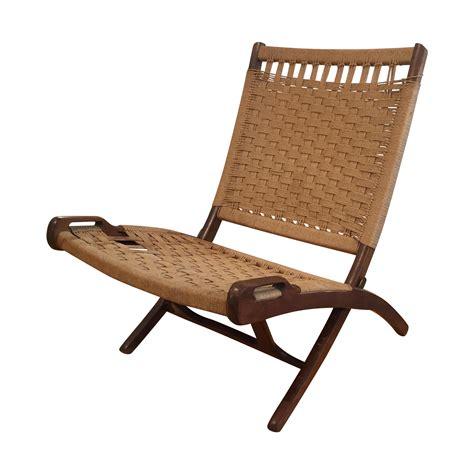 Hans Wegner Lounge Chair by Vintage Ebert Wels Folding Rope Chair Hans Wegner Mid