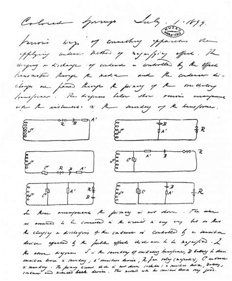 Nikola Tesla Colorado Springs Notes 1899 1900 Nikola Tesla Museum Page 3 Pictures Of Infinity