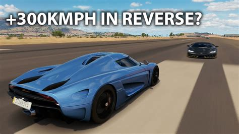 koenigsegg regera top speed forza horizon 3 fastest ever reverse top speed
