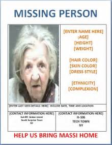 missing person poster template poster template 187 missing persons poster template poster