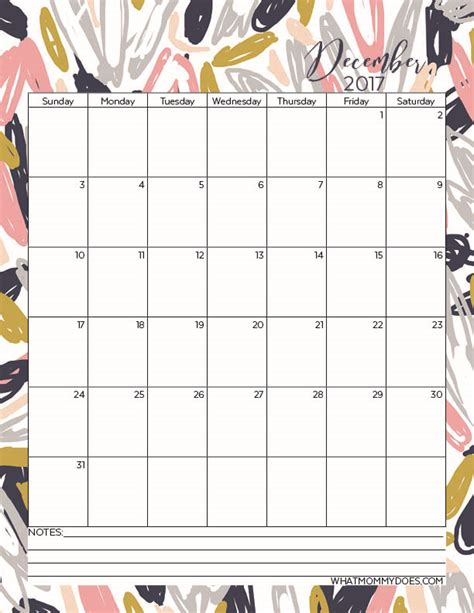 printable agenda december 2017 free printable 2017 monthly calendars what mommy does