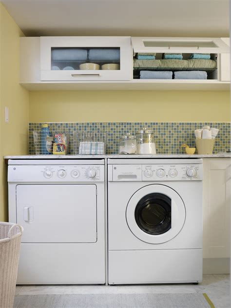 10 Clever Storage Ideas For Your Tiny Laundry Room Hgtv Storage Ideas For Small Laundry Room