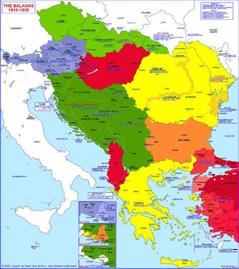 balkan states map hisatlas map of balkan peninsula 1918 1938