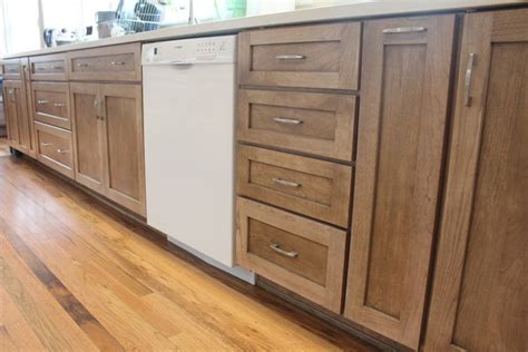 staining wooden kitchen cupboards cherry wood cabinets with a cappuccino stain our