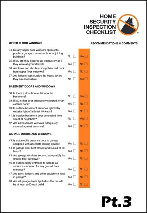 home security checklist pt3 1st safety