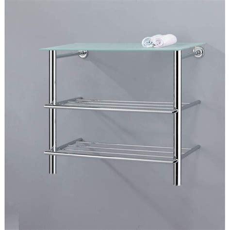 mensola muro mensola scaffale pensile per bagno in metallo ripiano