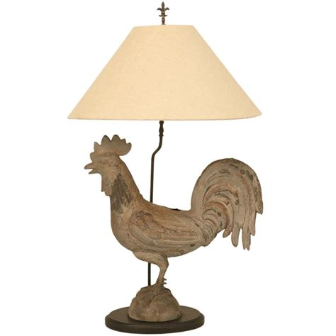 Kitchen Decor Collections awesome antique french zinc rooster table lamp at 1stdibs