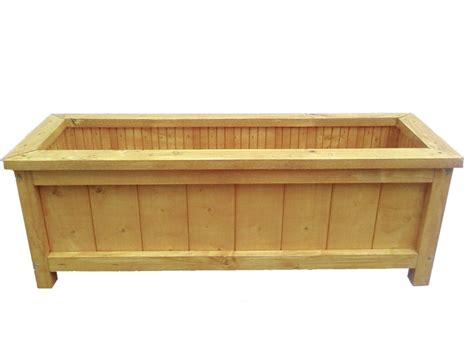 wooden garden planter length 60cm handmade brookside
