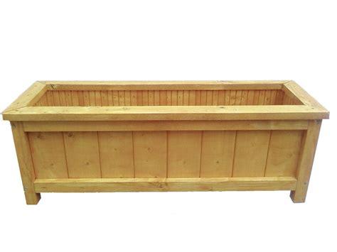 Handmade Wooden Planters - wooden garden planter length 60cm handmade brookside