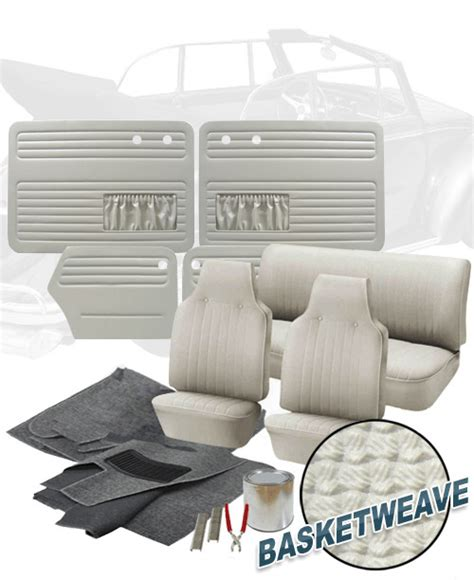 vw upholstery kits vw parts vw bug convertible complete interior kits 1968