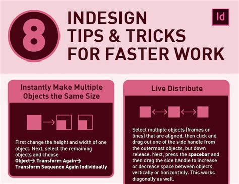 indesign tutorial infographic infographic 8 adobe indesign tips to help you save time