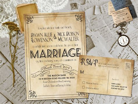 vintage wedding invitations best selection of rustic vintage wedding invitations