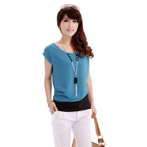 new fashion summer casual chiffon blouse