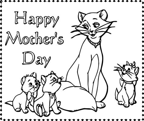 happy mothers day coloring pages disney the aristocats happy day coloring page
