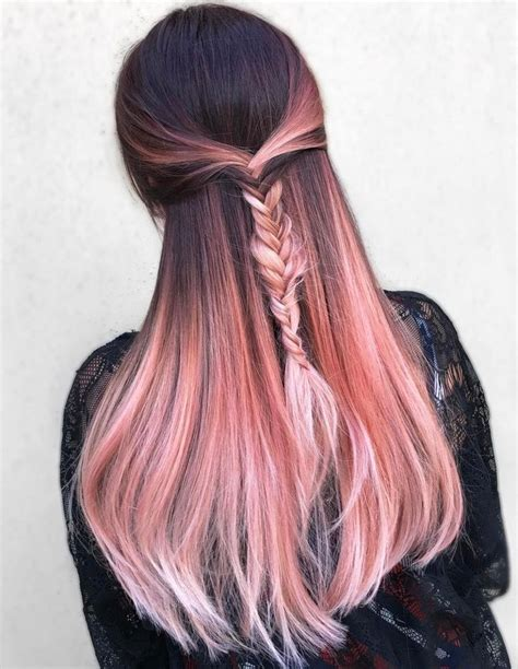 rose gold hair dye trends 2018 gold rose hair color rose gold hair color