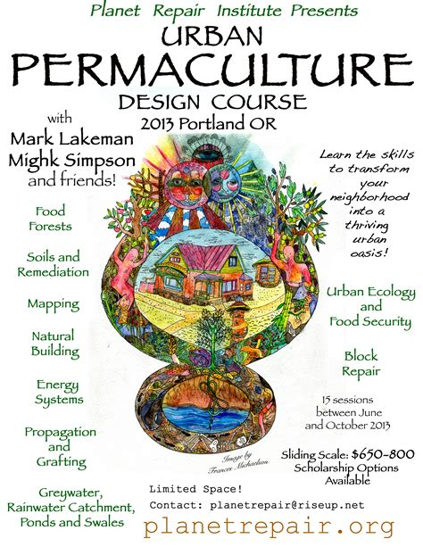 typography course permaculture welcome to the planet repair institute