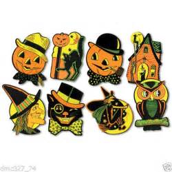 Reproduction Vintage Halloween Decorations 8 Retro Halloween Decorations Die Cut Cutouts Vintage