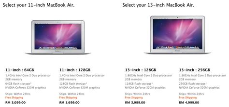 Laptop Macbook Air Malaysia official price for macbook air macbook pro for malaysia is out