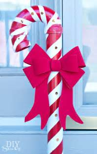 lighted candy cane decorations lighted pvc candy canes diy christmas home decor diy