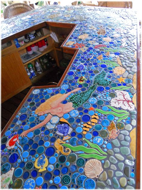 mosaic tile bar top decorative ceramic tile custom hand made tile tiles