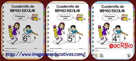 cuadernillo de repaso escolar para vacaciones del quinto cuadernillos de repaso escolar cuarto portada imagenes