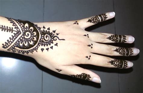simple arabic henna easy stylish mehndi tattoo design