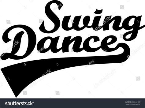 Word Swing Swing Retro Word Stock Vector 554592100