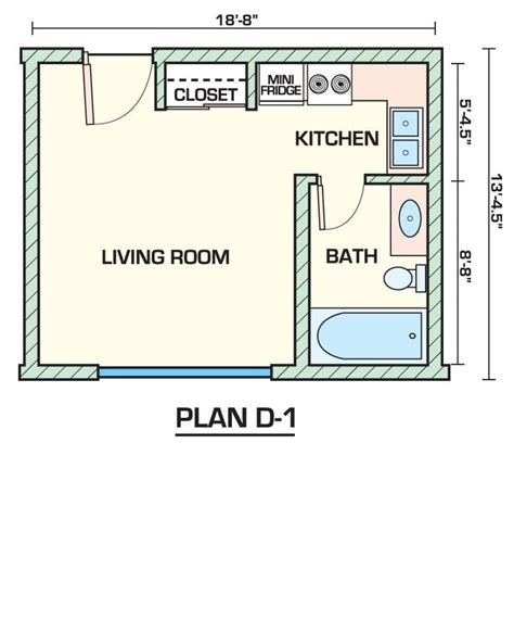 one bedroom efficiency apartment plans 25 best ideas about small apartment plans on pinterest