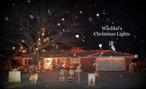 wachtel s christmas light display drive thru display in
