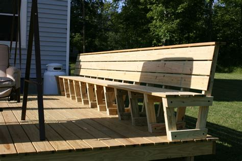 deck with bench there are different types of seating options indiana the