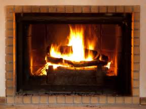 wood burning in the us lite by masonry fireplace