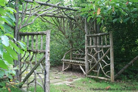 Garden Arbor Hours Lovely Stick Bench Gate Arbor And Canopy Of Green I