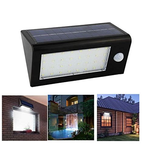 Outdoor Garage Wall Lights Senbowe New Upgrade 400 Lumen 32 Led Ip65 Waterproof Solar Motion Sensor Lights Outdoor Solar