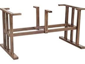 Patio Table Bases Woodard Trestle Large Aluminum Dining Table Base 2q8400