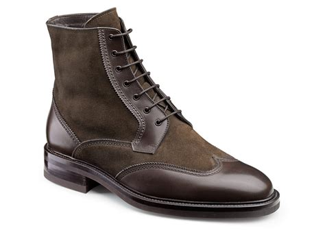 wing boots suede wing tip boots