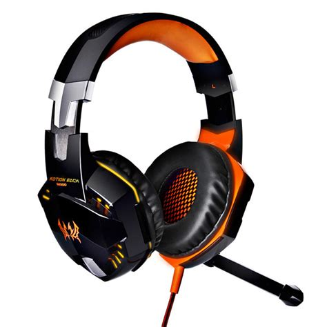 Kotion Each G2000 Gaming Headset Bass With Led Light kotion each g2000 ear stereo bass gaming headphone headset earphone headband with mic led
