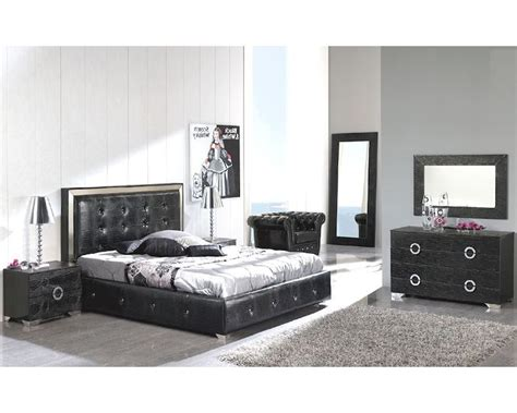 modern bedroom collections modern bedroom set valencia in black made in spain 33b251